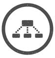 Hierarchy Icon Rubber Stamp vector image vector image