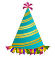isolated party hat vector image vector image