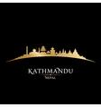 Kathmandu Nepal city skyline silhouette vector image vector image