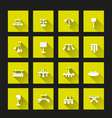 Lamp icon set long shadow vector image vector image