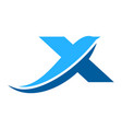 letter x abstract dolphin logo icon vector image