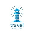 lighthouse logo vector image vector image