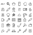 line kitchen and cooking icons set vector image vector image