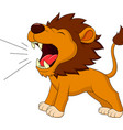 Lion cartoon roaring vector image vector image