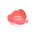 living coral trend color year 2019 vector image