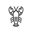 lobster outline icon crustacean symbol healthy vector image