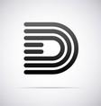 Logo for letter D vector image vector image