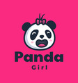 logo panda mascot cartoon style vector image