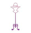 mannequin with elegant female hat vector image