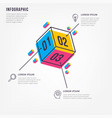 minimal 3d infographic vector image vector image