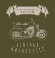 motorcycle vintage graphics t-shirt typography vector image vector image