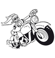 Motorized Easter Bunny vector image vector image