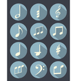 Music note flat design vector image