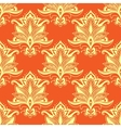 Orange indian stylized paisley floral seamless vector image vector image
