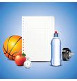 paper sport vector image vector image