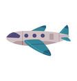 passenger airplane flying aircraft vehicle air vector image vector image