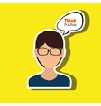 people thinking design vector image vector image