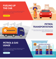 Petrol Station Banners Set vector image vector image