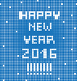 pixel happy 2016 vector image