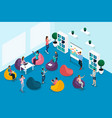 qualitative isometry character in coworking center vector image vector image