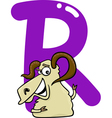 R for ram vector image vector image
