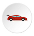 red car icon circle vector image vector image