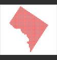 red dot map of washington dc vector image vector image