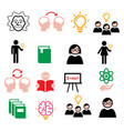 science knowledge creative thinking ideas icons vector image