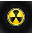 sign of radiation black vector image
