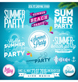 Summer Beach Party Typography set with symbols