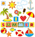 Summer Set Textile Element vector image
