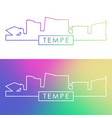 tempe arizona skyline colorful linear style vector image vector image