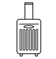 travel luggage icon vector image vector image