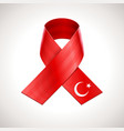 Turkey Flag Ribbon vector image