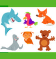 wild animal characters cartoon set vector image vector image