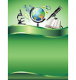 science vertical background vector image