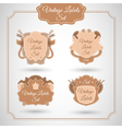 Set with vintage label vector image