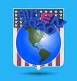 a poster dedicated to us elections 3d vector image vector image