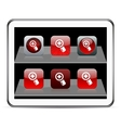 Add red app icons vector image vector image