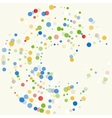 background with colored dots vector image vector image