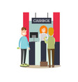 bank people concept in flat vector image vector image