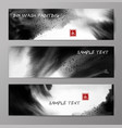 banners with abstract black ink wash painting vector image vector image