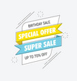 birthday sale special banner vector image vector image