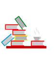 book and coffee vector image vector image