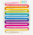 calendar 2017 print template design ribbon style vector image
