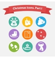 Christmas icons in a flat style vector image
