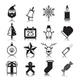 Christmas with reflection icon set vector image