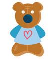 clipart a cute little teddy bear in blue vector image vector image