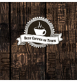 coffee shop menu template on hardwood texture vector image vector image