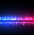colorful music background with glitter and vector image vector image